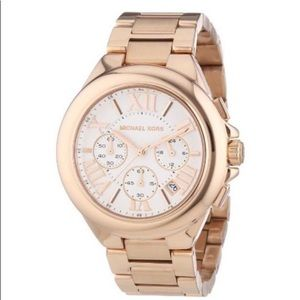 MICHAEL KORS Camille Rose Gold Chronograph Watch